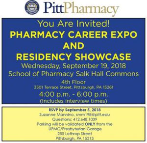 Pharmacy Career Expo @ Salk Hall Commons | Pittsburgh | Pennsylvania | United States